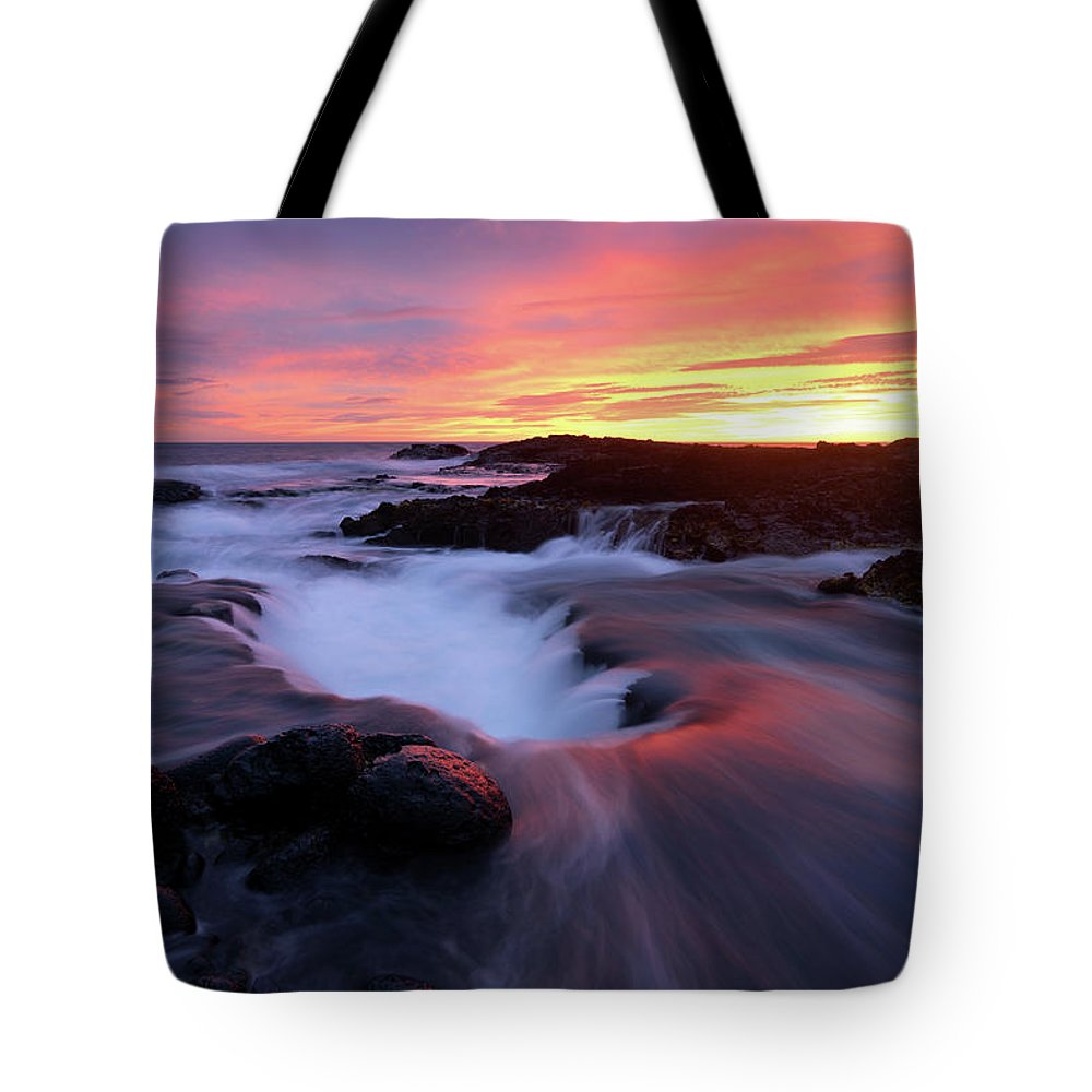 Landscape Tote Bag featuring the photograph Sunset Glow by Christopher Johnson