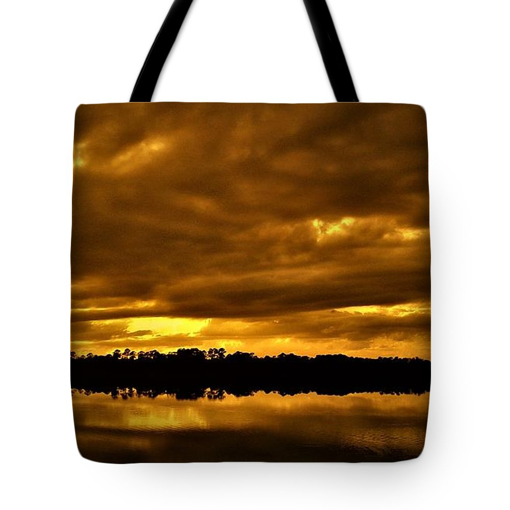 Sunset Tote Bag featuring the photograph Sunset Gold by Dan Emberton