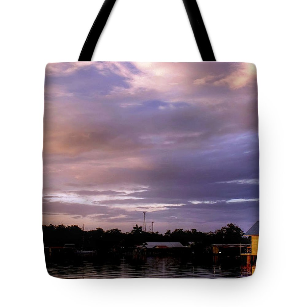 Sunset Tote Bag featuring the photograph Sunset Hut by Dolly Sanchez