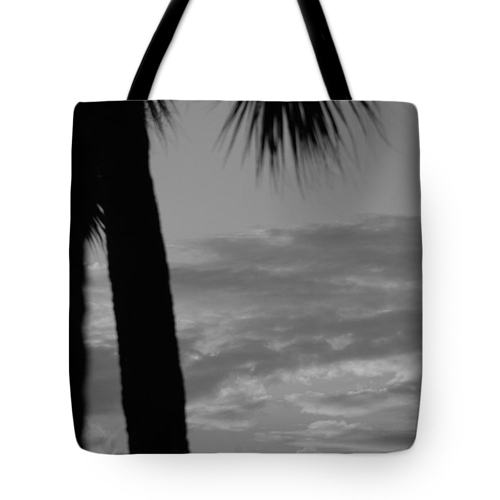 Black And White Tote Bag featuring the photograph Sunset In Black And White by Rob Hans