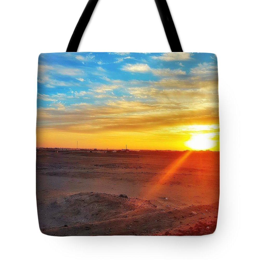 Sunset Tote Bag featuring the photograph Sunset In Egypt by Usman Idrees
