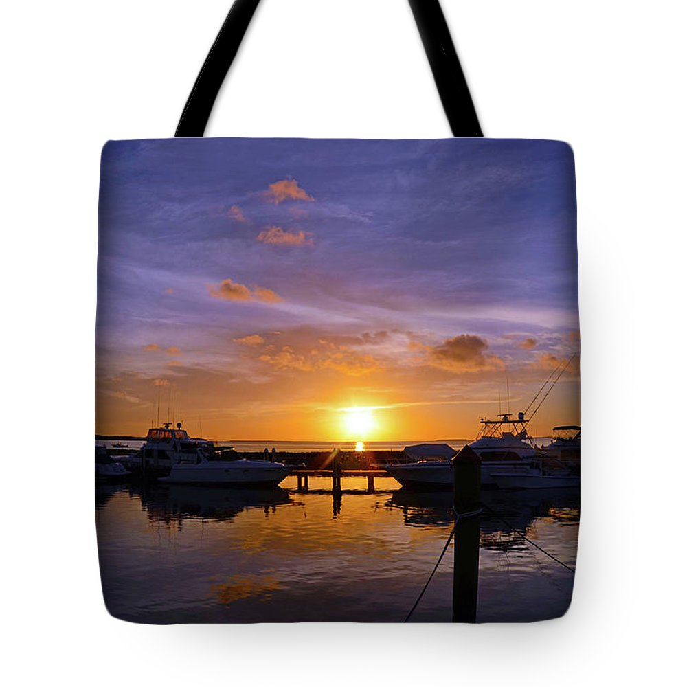 Sunset Tote Bag featuring the photograph Sunset In Paradise by Chris Kraska