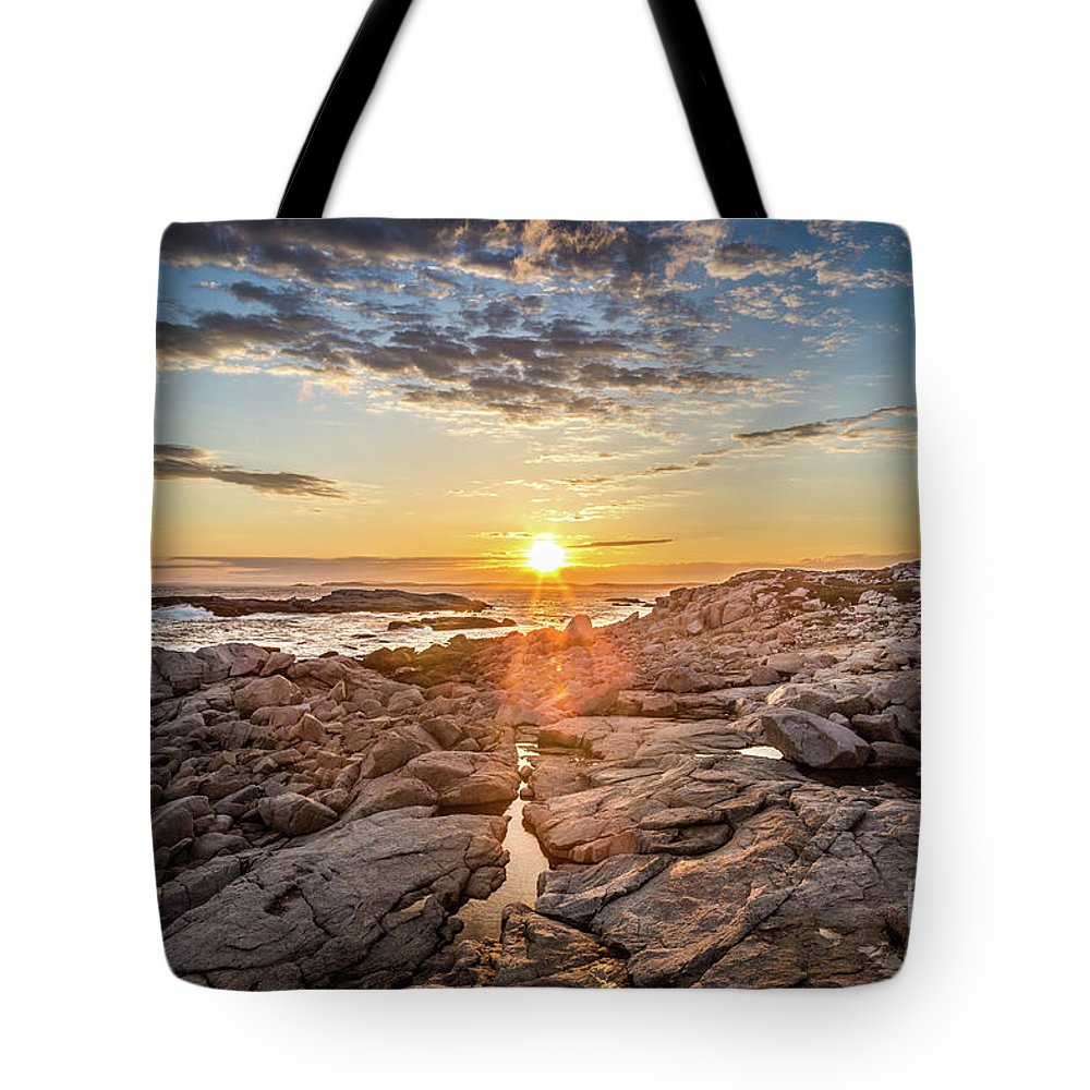 Sunset Tote Bag featuring the photograph Sunset In Prospect, Nova Scotia by Mike Organ