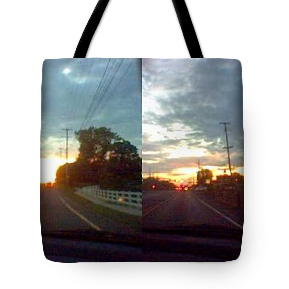 Sky Tote Bag featuring the photograph Sunset In Sequence by Pharris Art