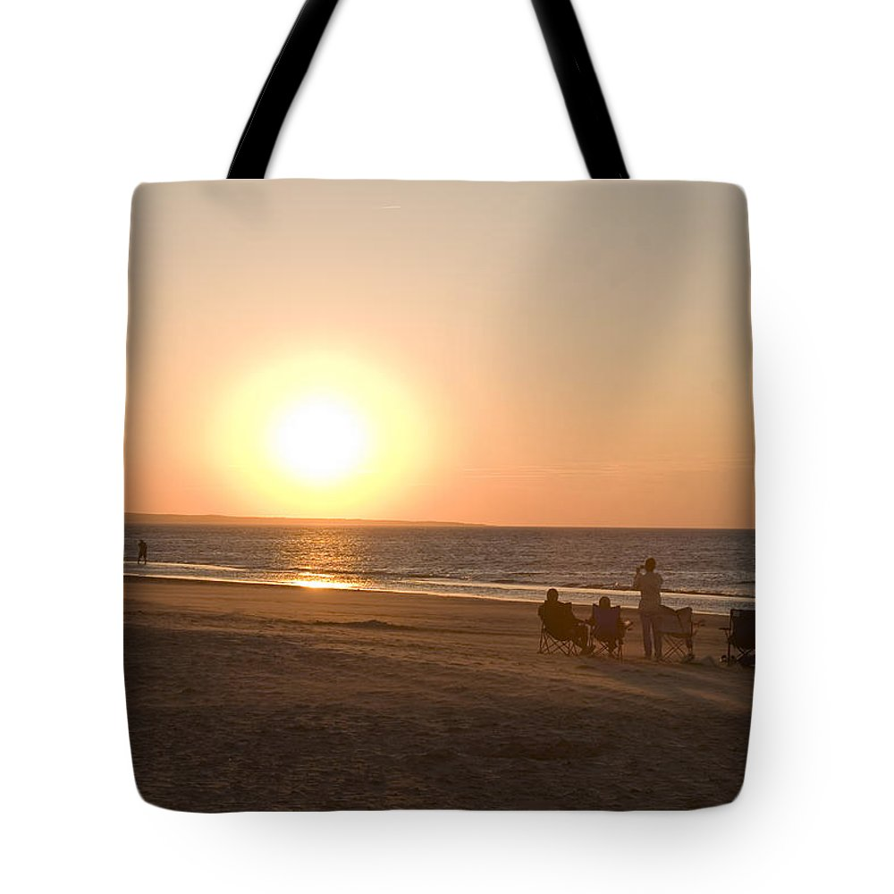 Prince Edward Island Tote Bag featuring the photograph Sunset In Summertime On Beaches by Taylor S. Kennedy
