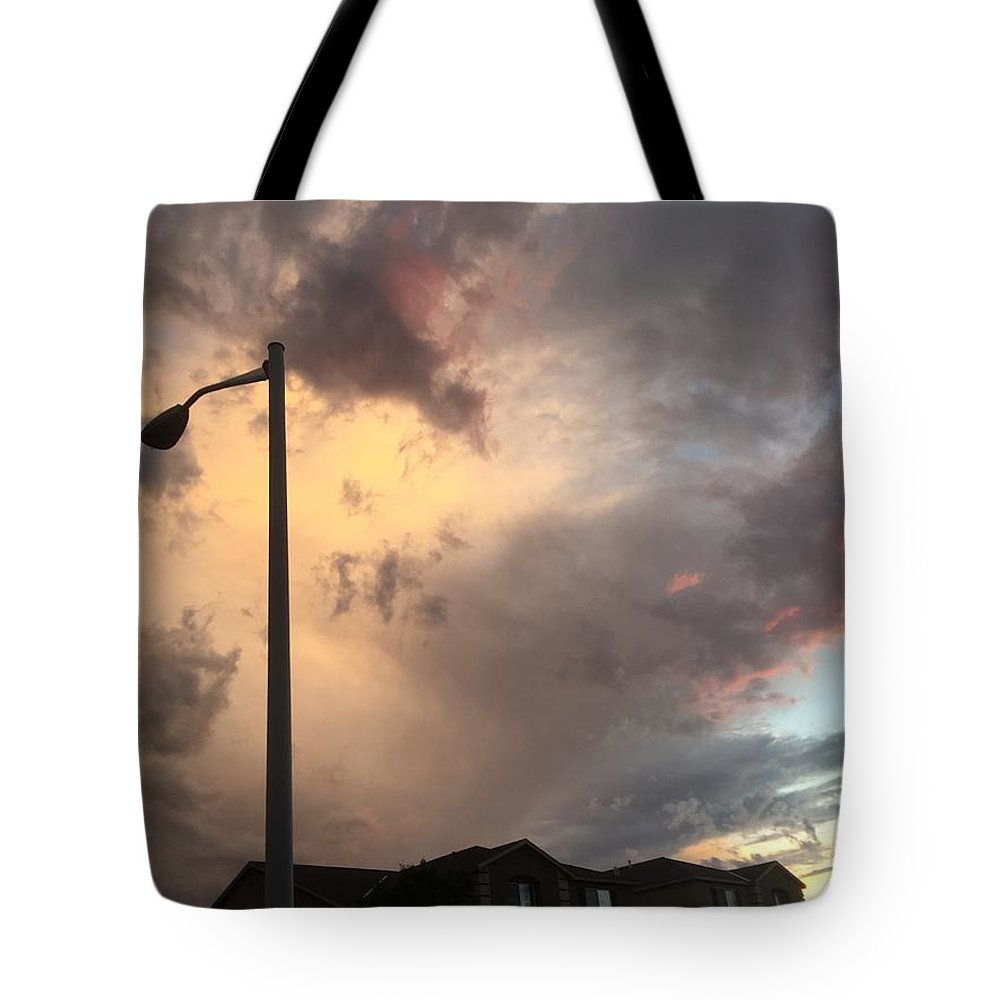 Landscape Tote Bag featuring the photograph Sunset by Kirsten S