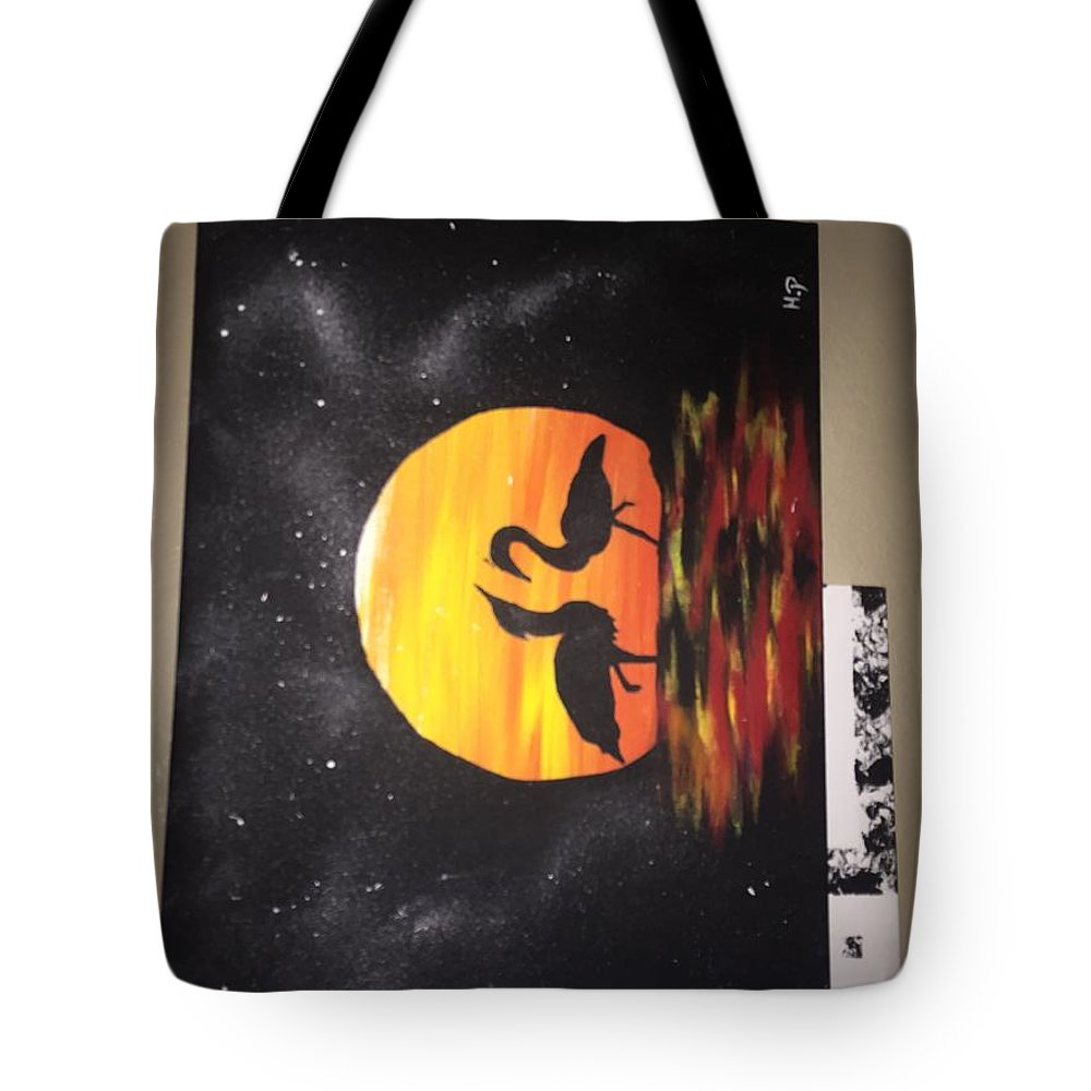 Tote Bag featuring the painting Sunset Love by Martez Perry