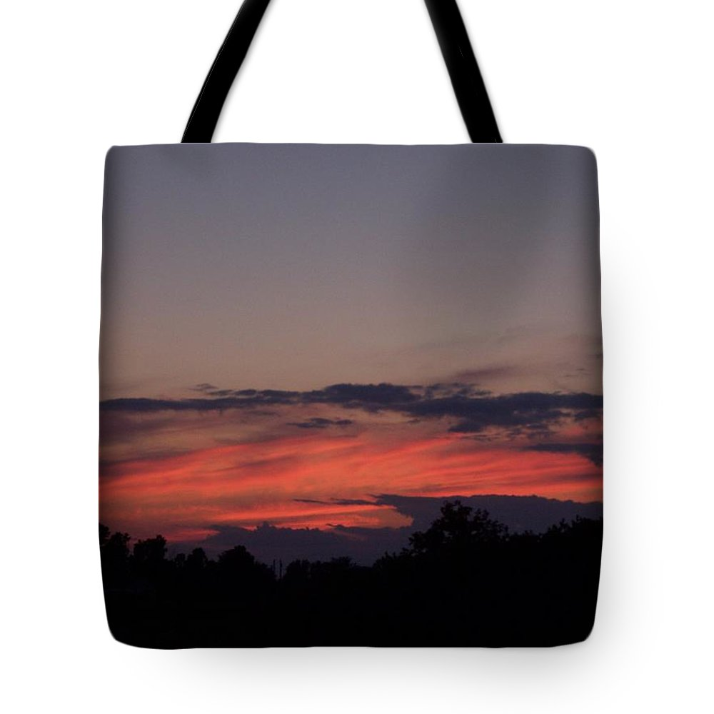 Sunset Tote Bag featuring the photograph Sunset by Michelle Miron-Rebbe