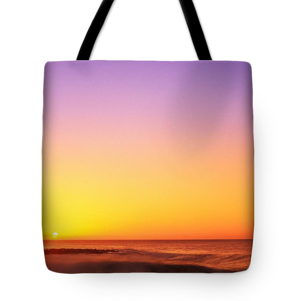 Beach Tote Bag featuring the photograph Sunset On The Beach by Vince Cavataio - Printscapes
