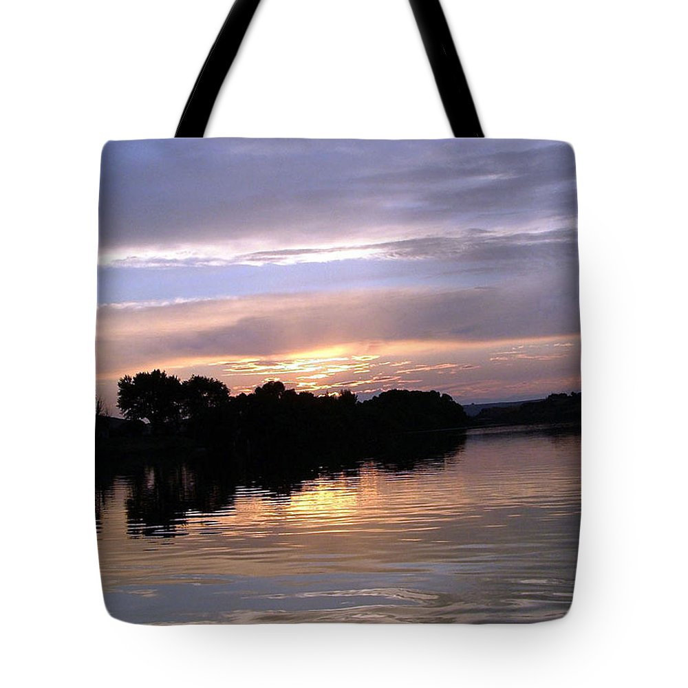 Snake River Tote Bag featuring the photograph Sunset On The Snake by Dawn Blair