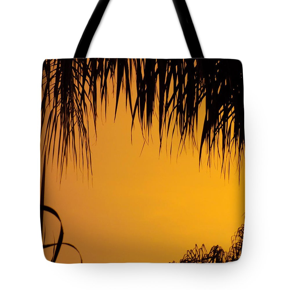 Sunset Tote Bag featuring the photograph Sunset Orange After Storm by William Tasker