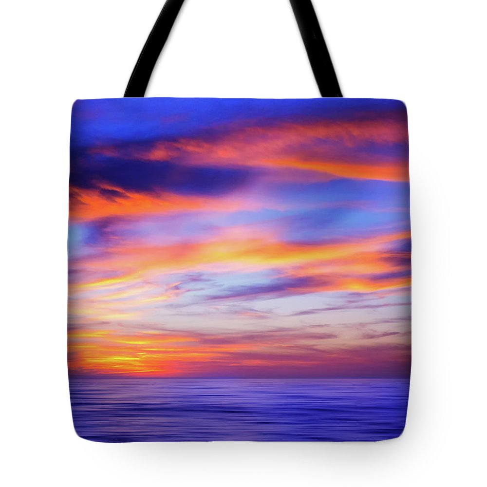 Beach Tote Bag featuring the photograph Sunset Palette by Iryna Goodall