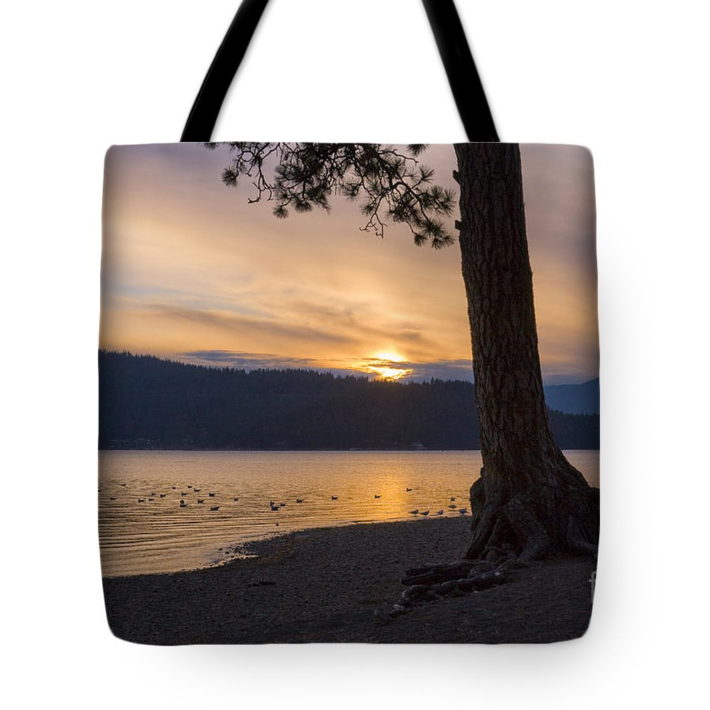 Sunset Tote Bag featuring the photograph Sunset Silhouette by Idaho Scenic Images Linda Lantzy