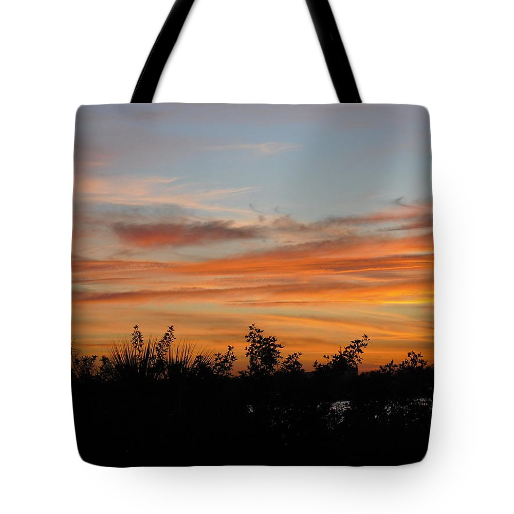 Sun Tote Bag featuring the photograph Sunset Silhouette by Mandy Shupp
