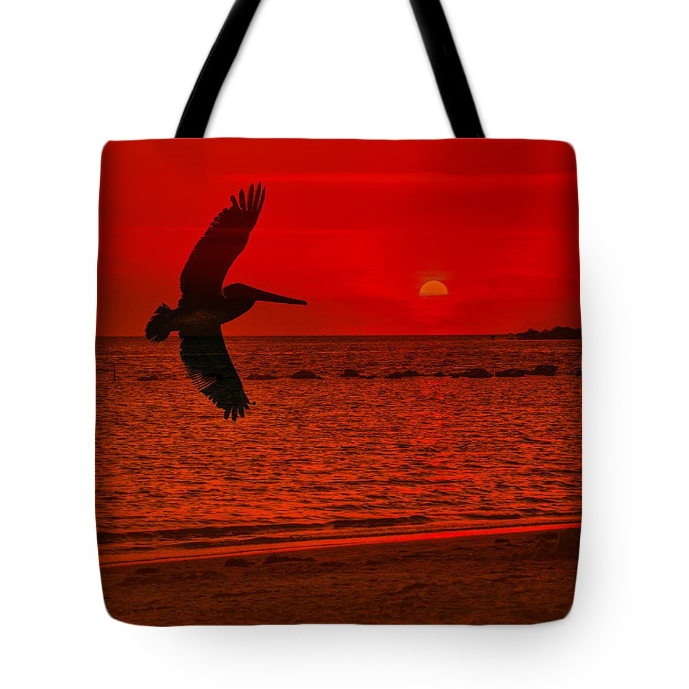 Florida Tote Bag featuring the photograph Sunset Silhouette by Mark Fuge