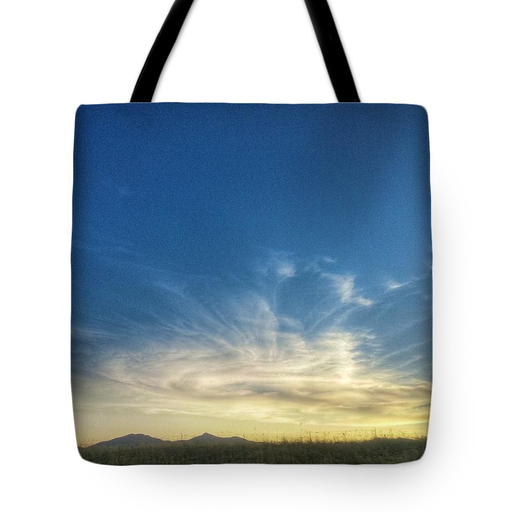 Landscape Tote Bag featuring the photograph Sunset Swirl by Susannah Welch