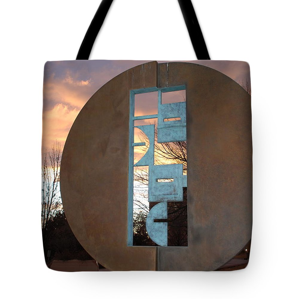 Pop Art Tote Bag featuring the photograph Sunset Thru Art by Rob Hans