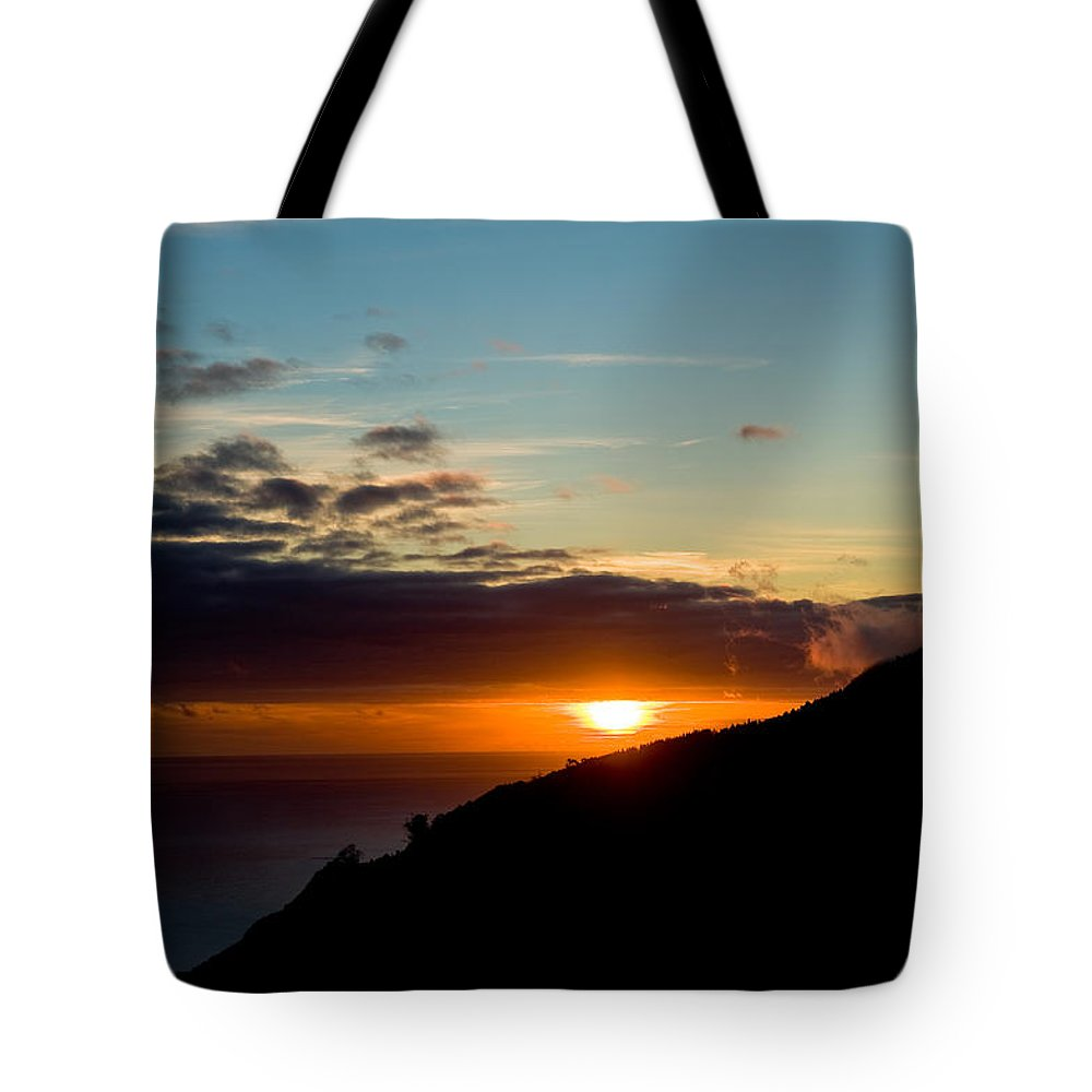 Abstract Tote Bag featuring the photograph Sunset,beauty-05 by Joseph Amaral