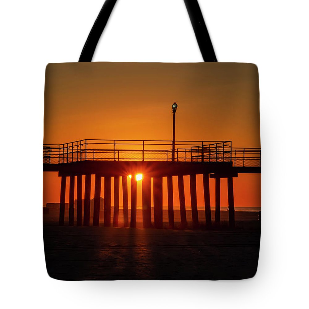 Sunshine Tote Bag featuring the photograph Sunshine At Wildwood Crest Pier by Bill Cannon