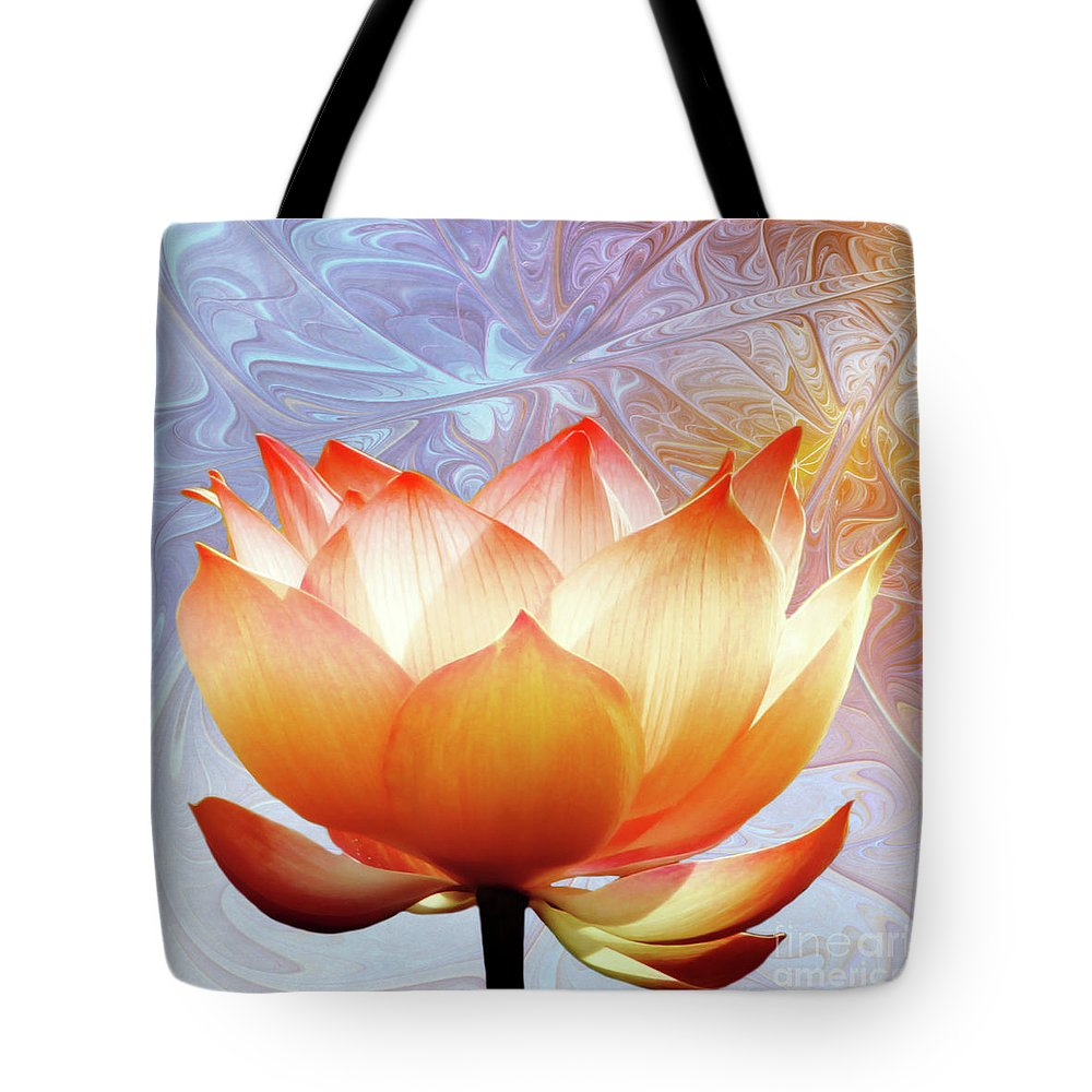 Lotus Tote Bag featuring the photograph Sunshine Lotus by Jacky Gerritsen