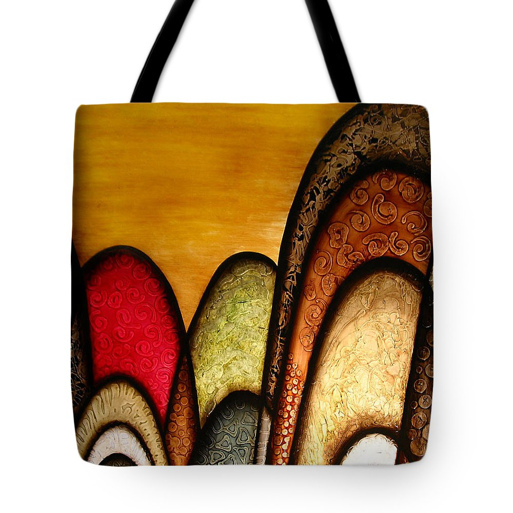 Abstract Art Tote Bag featuring the painting Sunshiny Day by Jill English