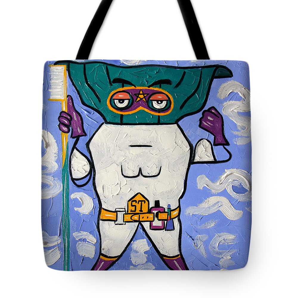 Super Tooth Tote Bag featuring the painting Super Tooth by Anthony Falbo