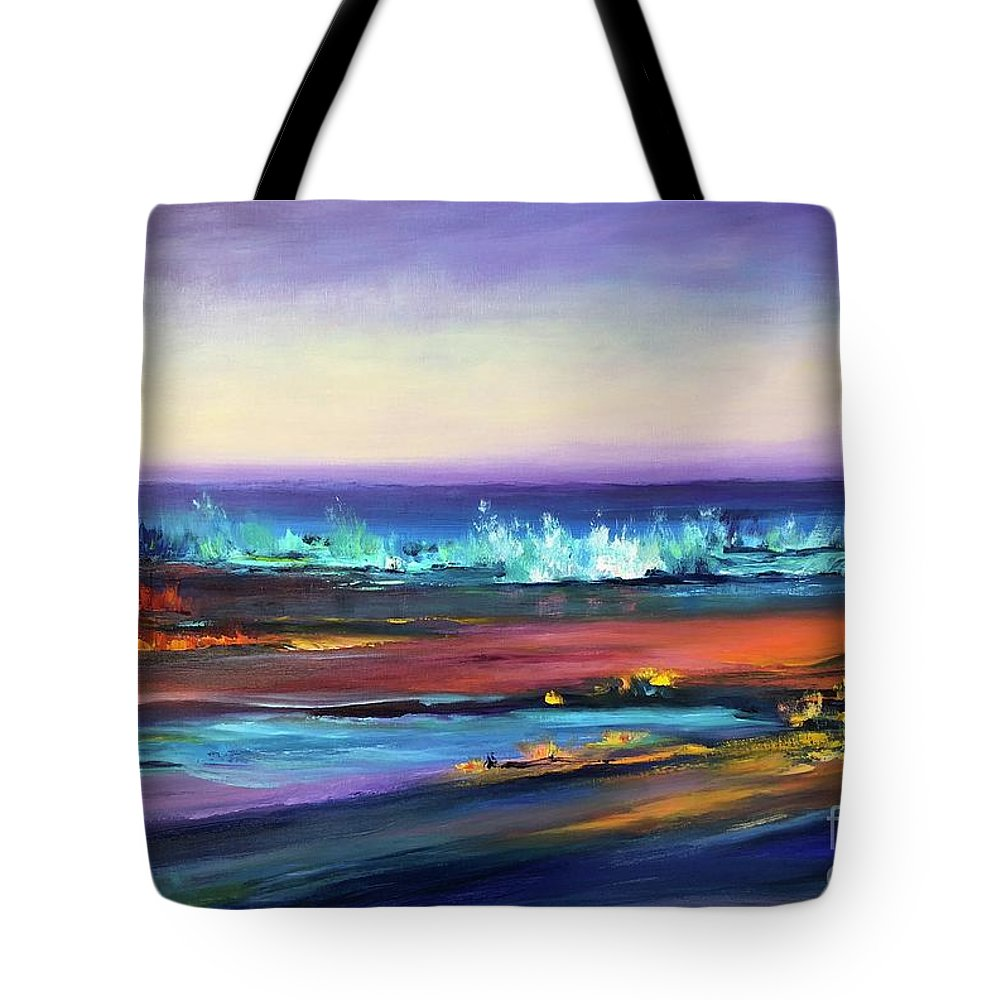 Great Lakes Tote Bag featuring the painting Superior Gold by Kathelen Fox Weinberg