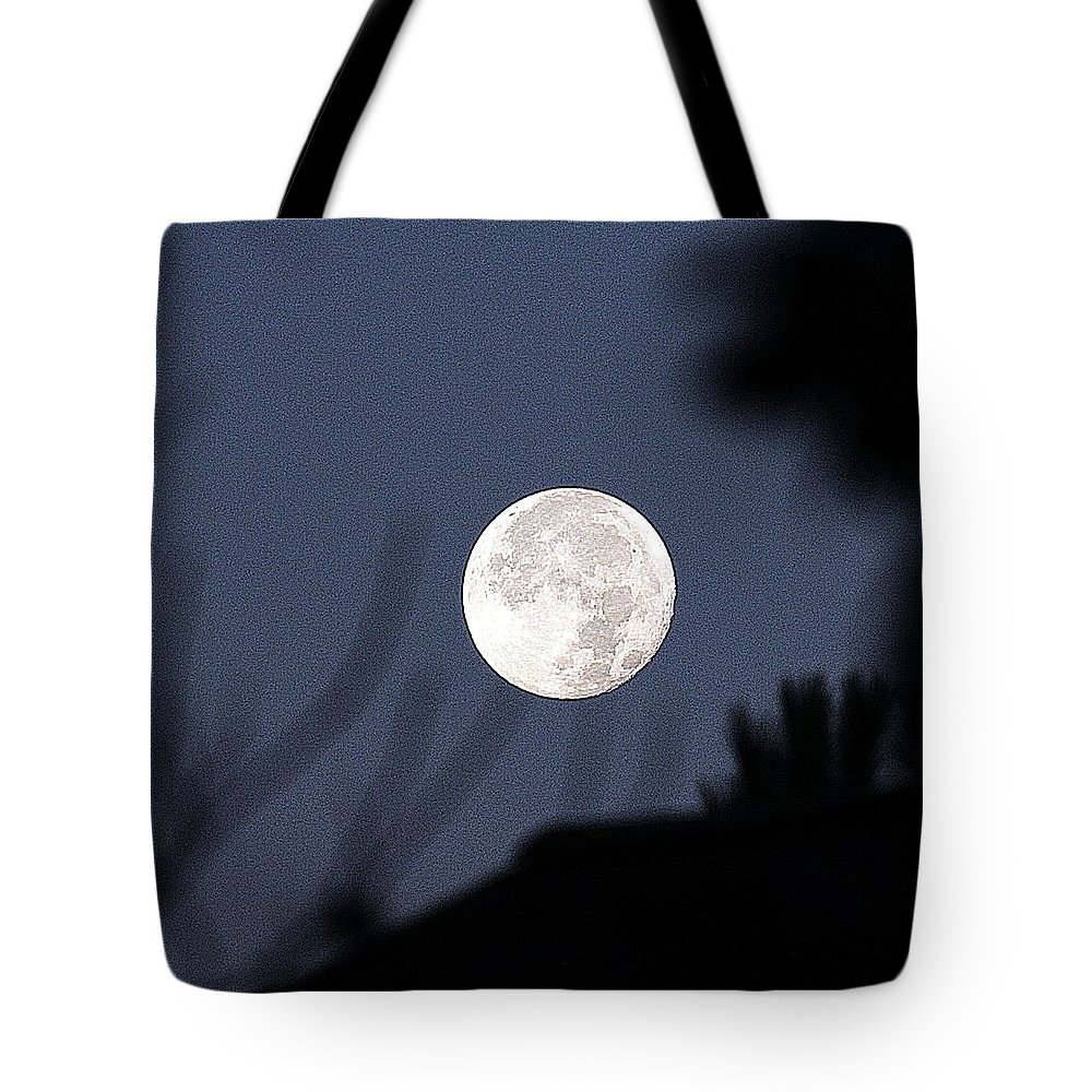 Full Moon Tote Bag featuring the photograph Supermoon by Photo Design Studio