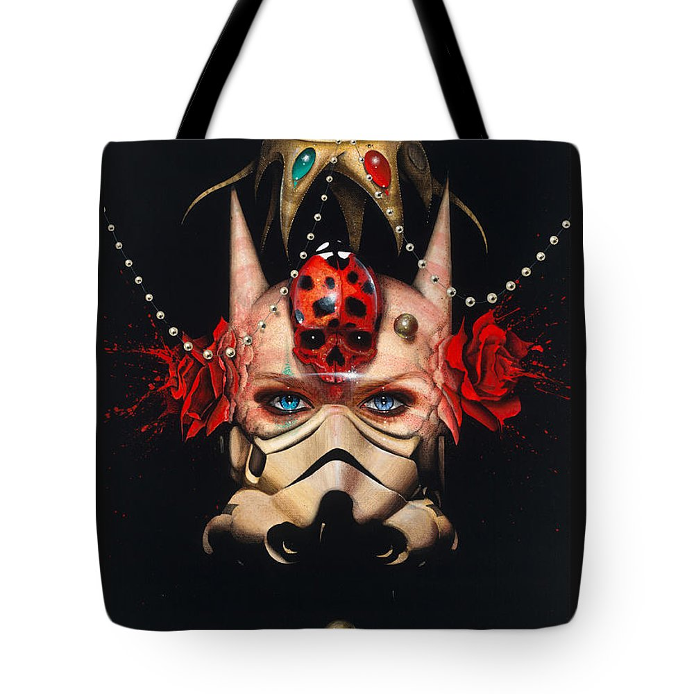 Portrait Tote Bag featuring the painting Supernatural by Francisco Javier