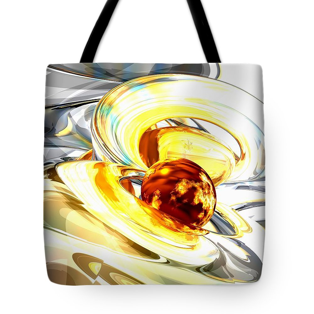 3d Tote Bag featuring the digital art Supernova Abstract by Alexander Butler