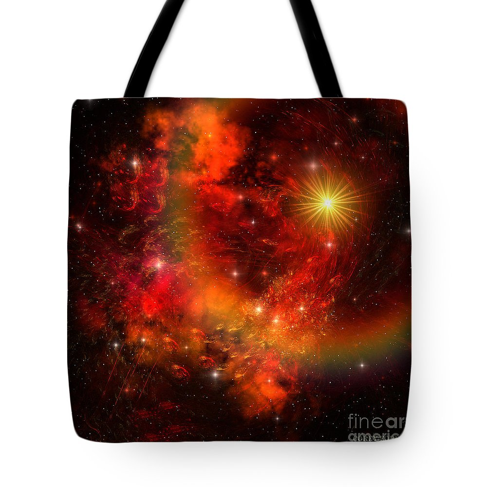 Supernova Tote Bag featuring the painting Supernova by Corey Ford