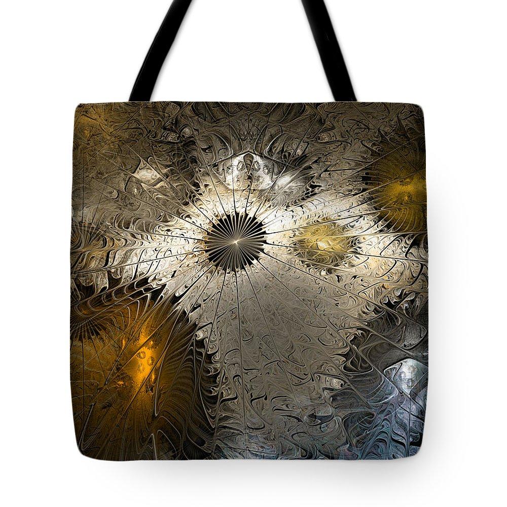 Anstract Tote Bag featuring the digital art Suppression Of Independent Thought by Casey Kotas