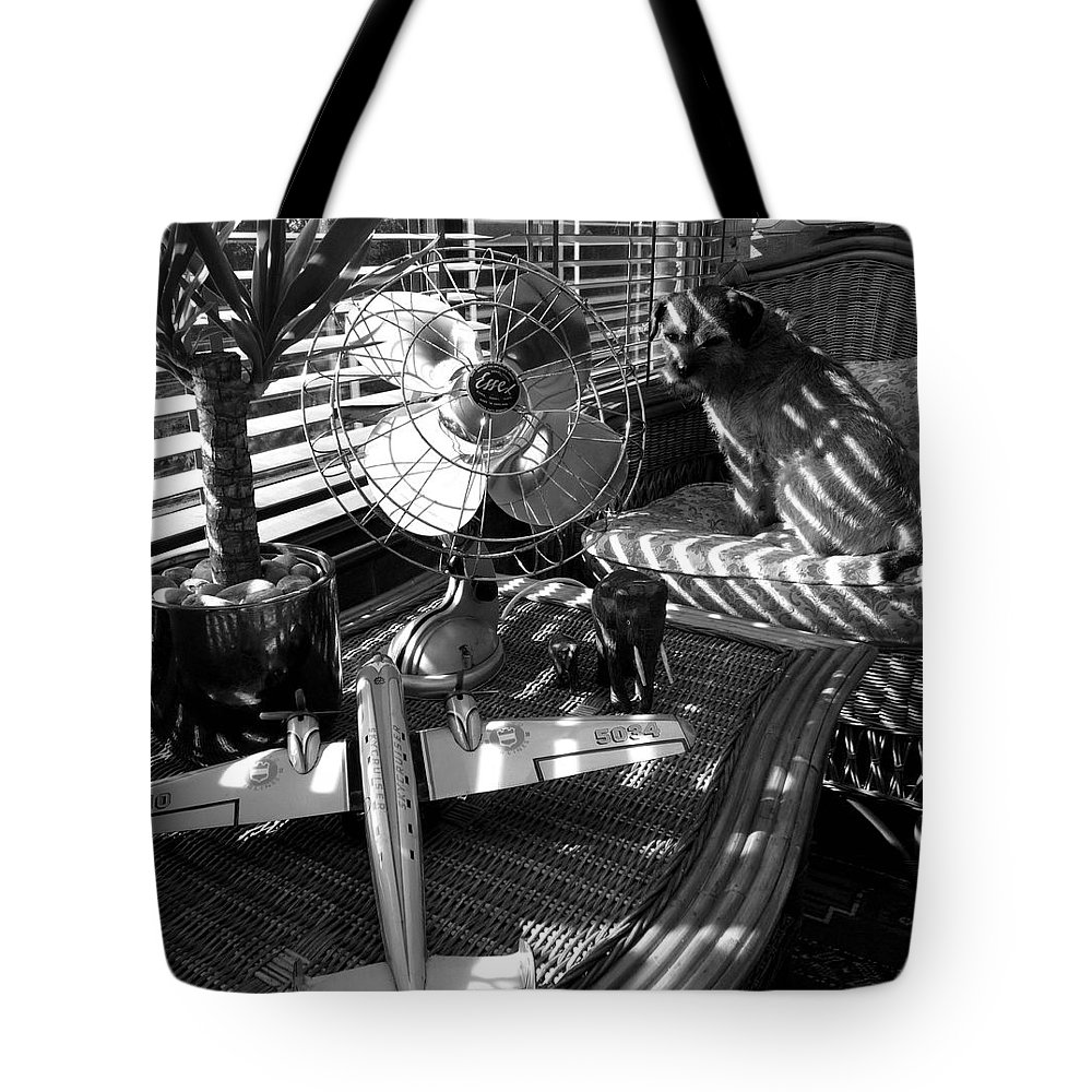 Still Life Tote Bag featuring the painting Surburban Safari With Toto by Charles Stuart