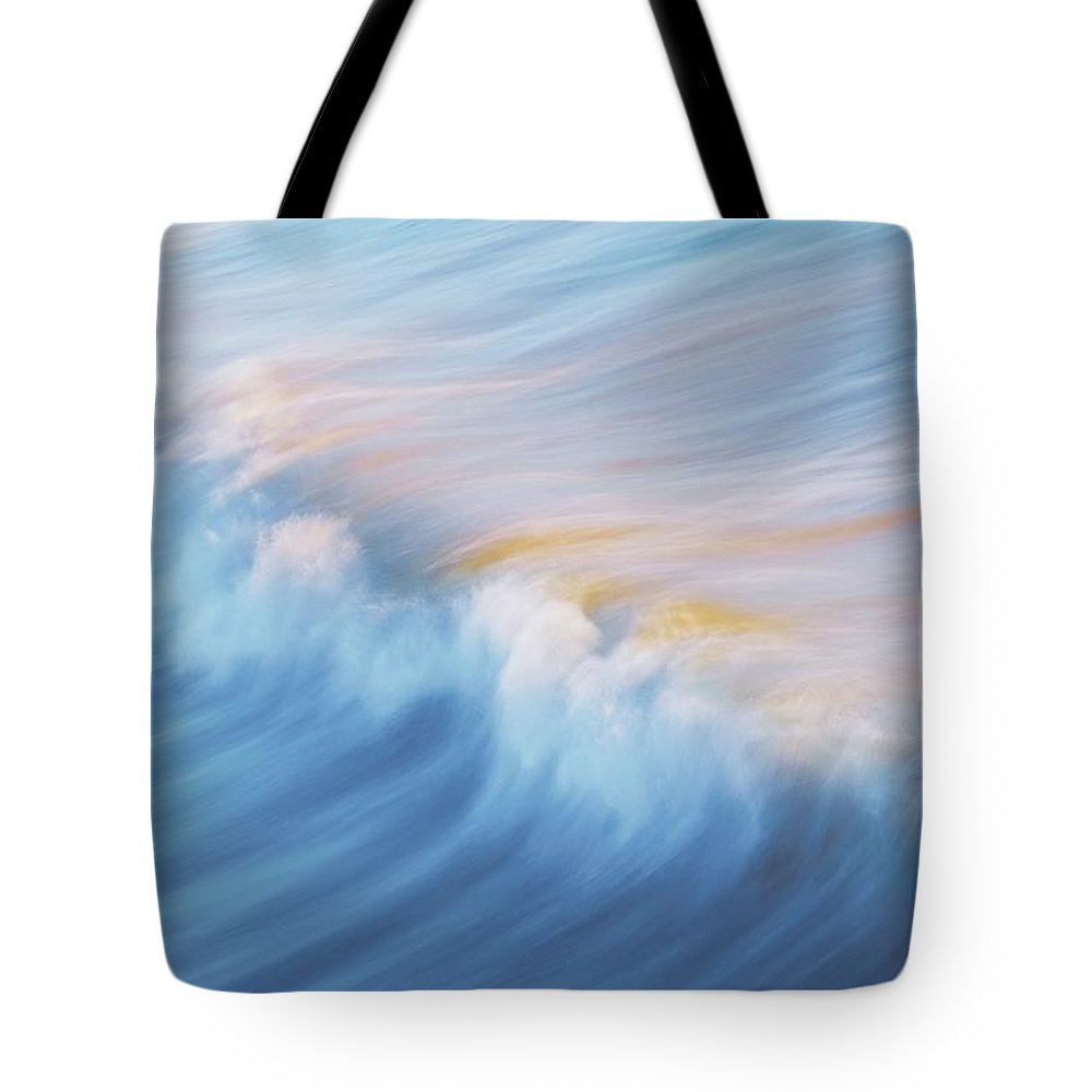Wave Front Tote Bag featuring the photograph Surf Break at Pismo Beach, California by Zayne Diamond Photographic