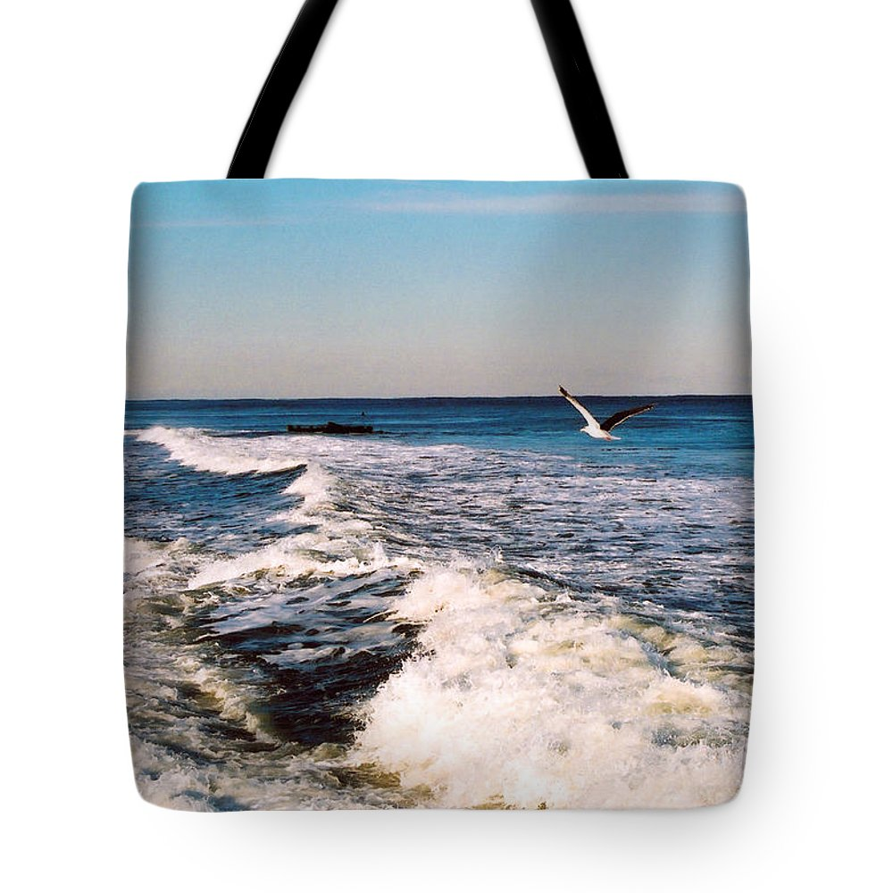 Beach Tote Bag featuring the photograph Surf by Steve Karol