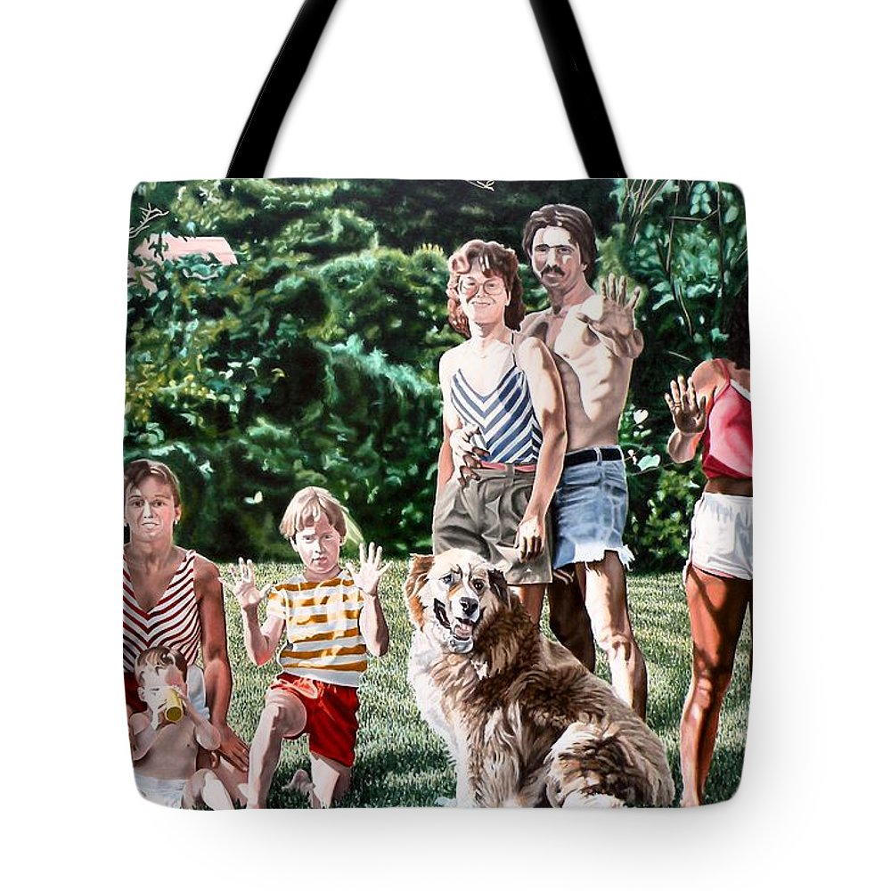 Woman Tote Bag featuring the painting Surface Tension by Dave Martsolf
