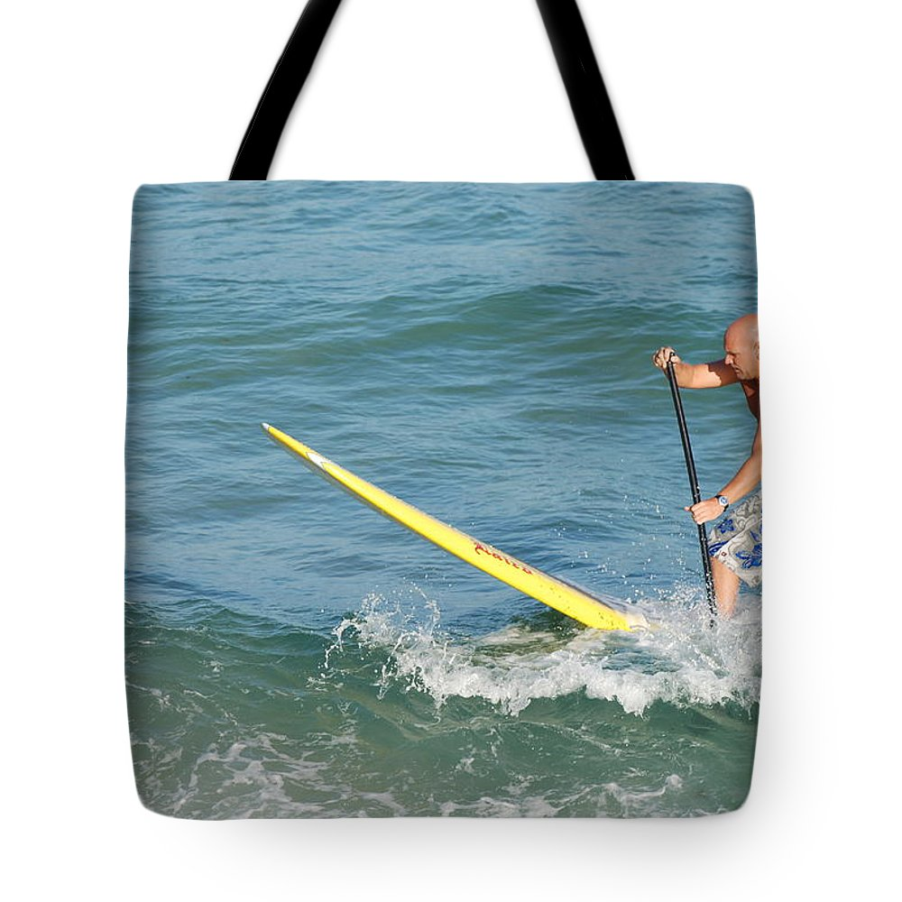 Sea Scape Tote Bag featuring the photograph Surfer Dude by Rob Hans