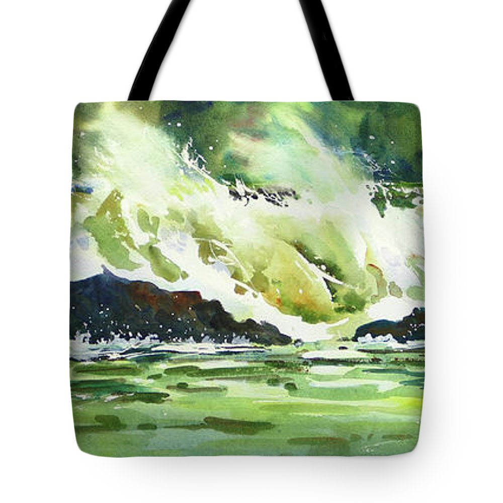 Surf Tote Bag featuring the painting Surfers Dream by Mohamed Hirji