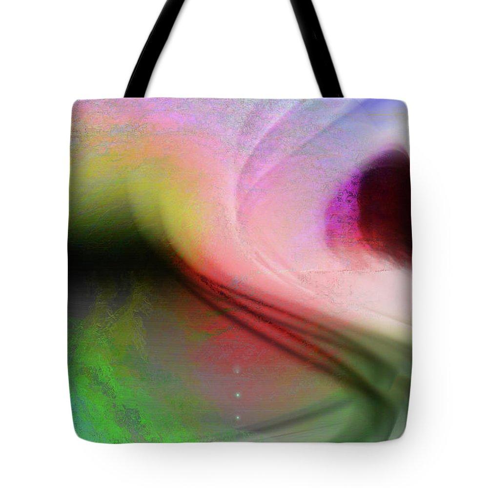 Digital Art Tote Bag featuring the digital art Surfing In The Light by Linda Sannuti