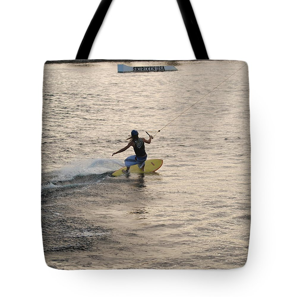 Sun Tote Bag featuring the photograph Surfing by Rob Hans