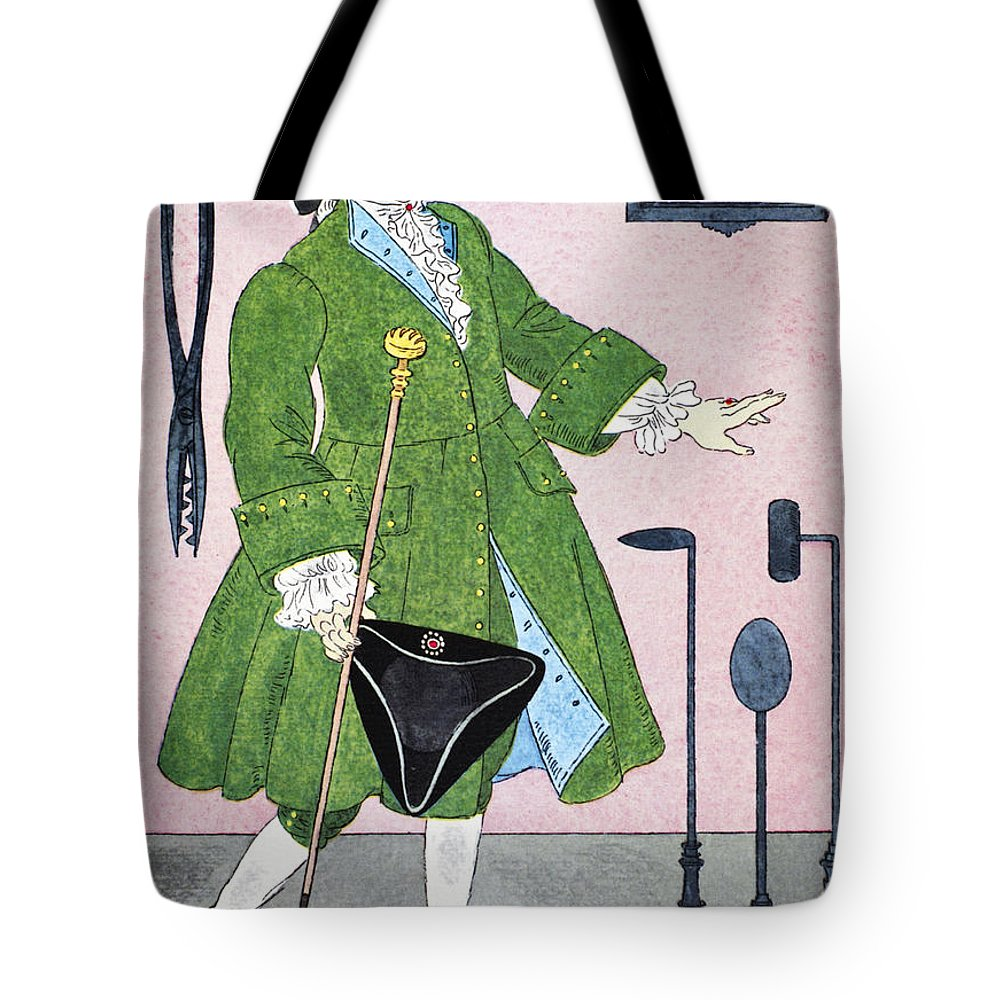 18th Century Tote Bag featuring the photograph Surgeon, 18th Century by Granger