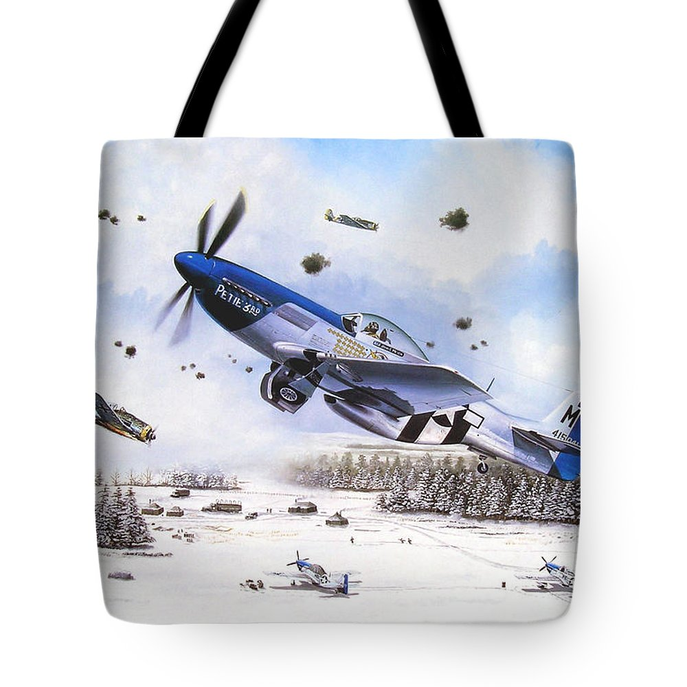 Aviation Tote Bag featuring the painting Surprise At Asch by Marc Stewart