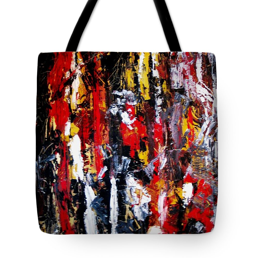 Oil Painting Tote Bag featuring the painting Surreal by Fareeha Khawaja