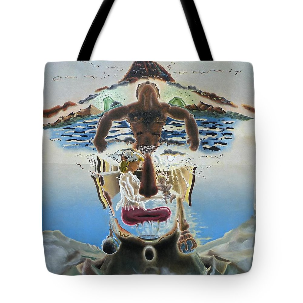 Surreal Tote Bag featuring the painting Surreal Memories by Dave Martsolf