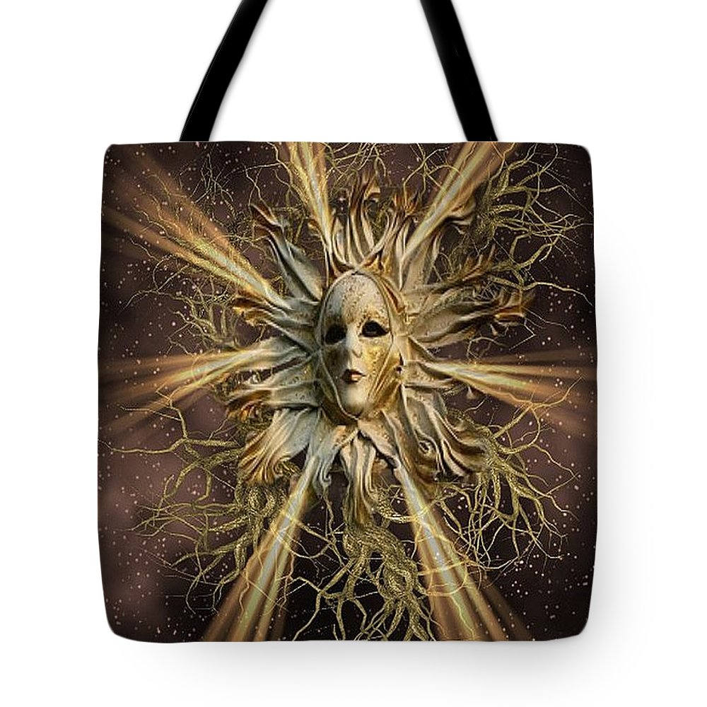 Fantasy Tote Bag featuring the digital art Surreal Sun Beam by Ali Oppy