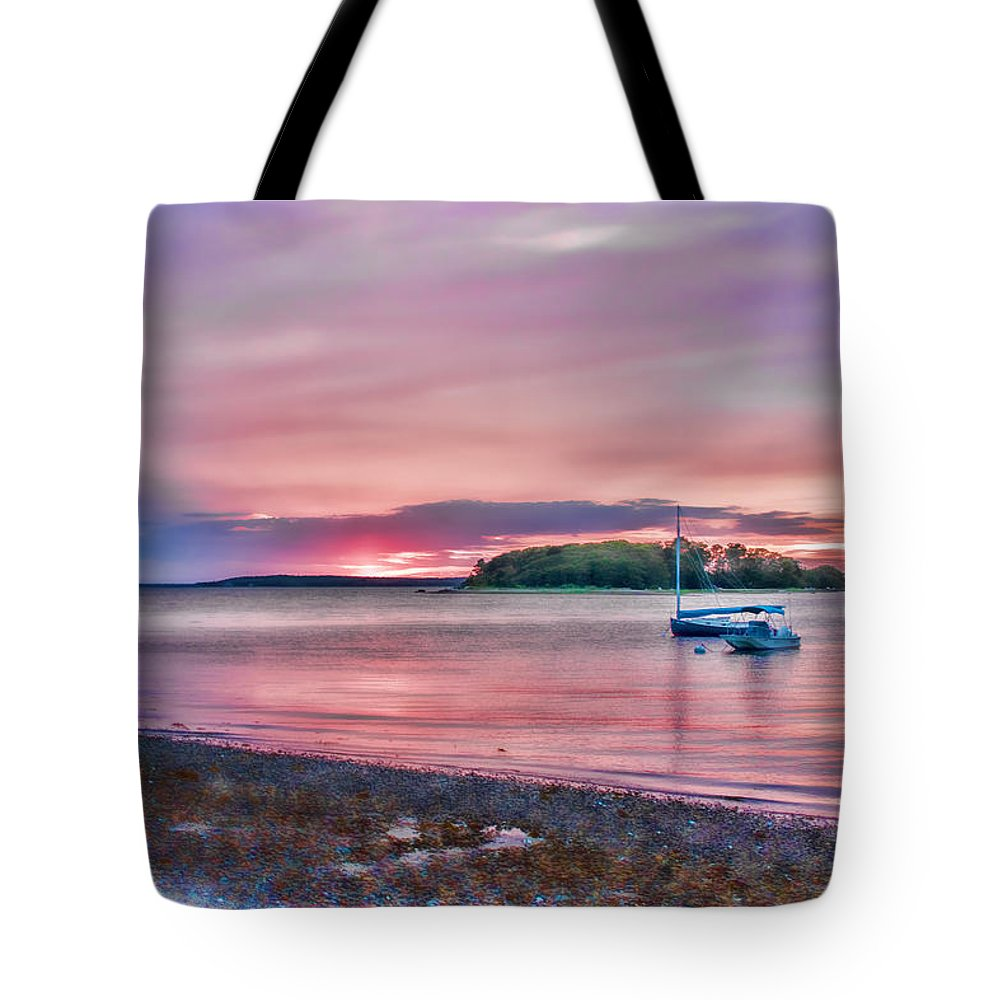 Cape Cod Tote Bag featuring the photograph Surreal Sunset by Leigh Grundy