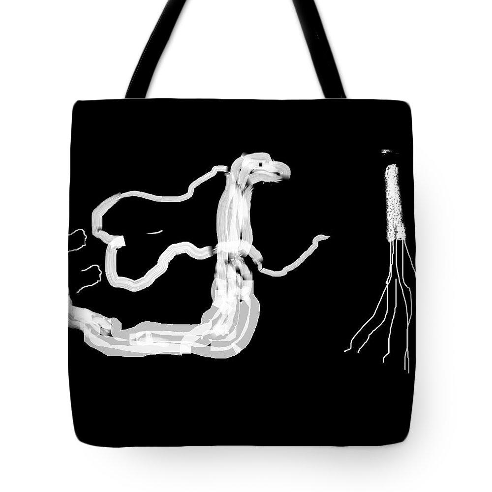 Surrender Tote Bag featuring the digital art Surrender by Sajid