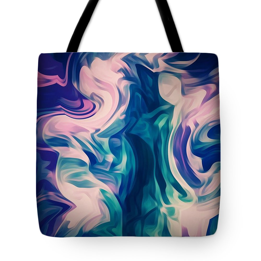 Spiritual Tote Bag featuring the digital art Surrounded By An Aura Of Love by Sanctuary of Words Gallery