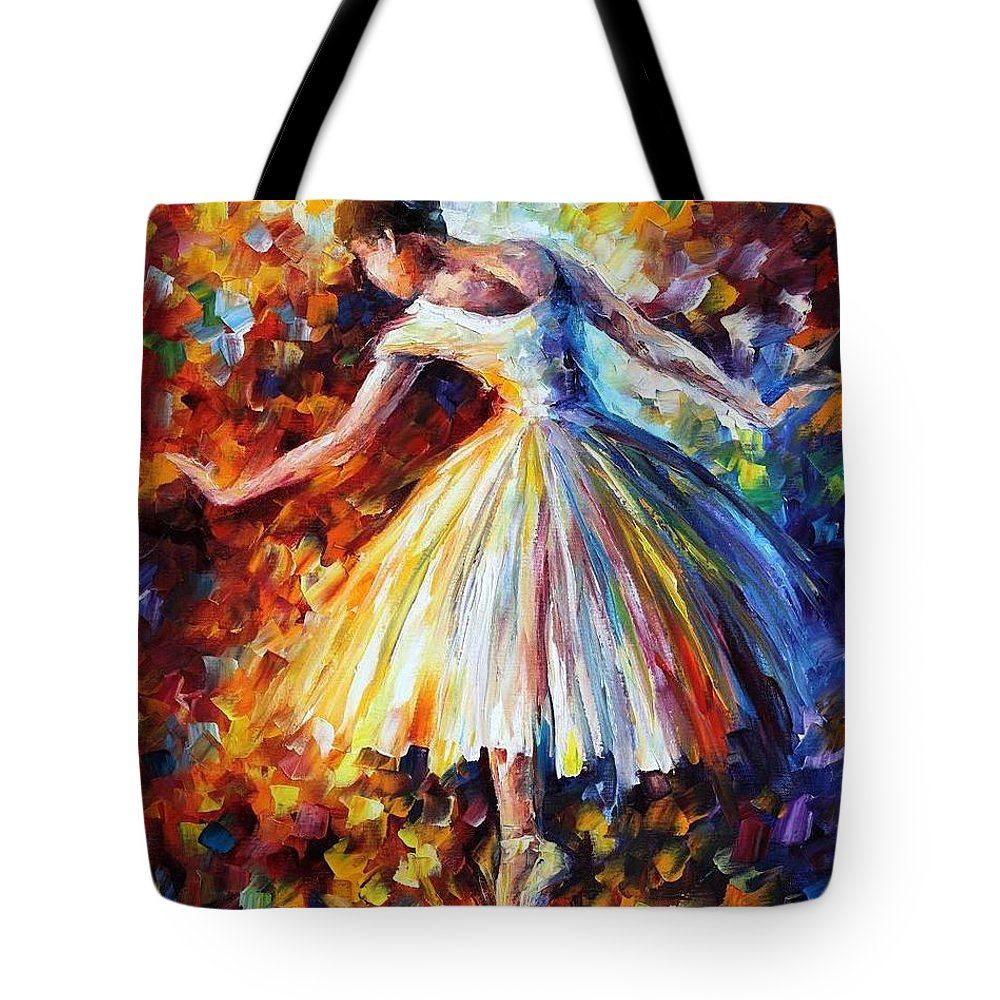 Afremov Tote Bag featuring the painting Surrounded By Music by Leonid Afremov