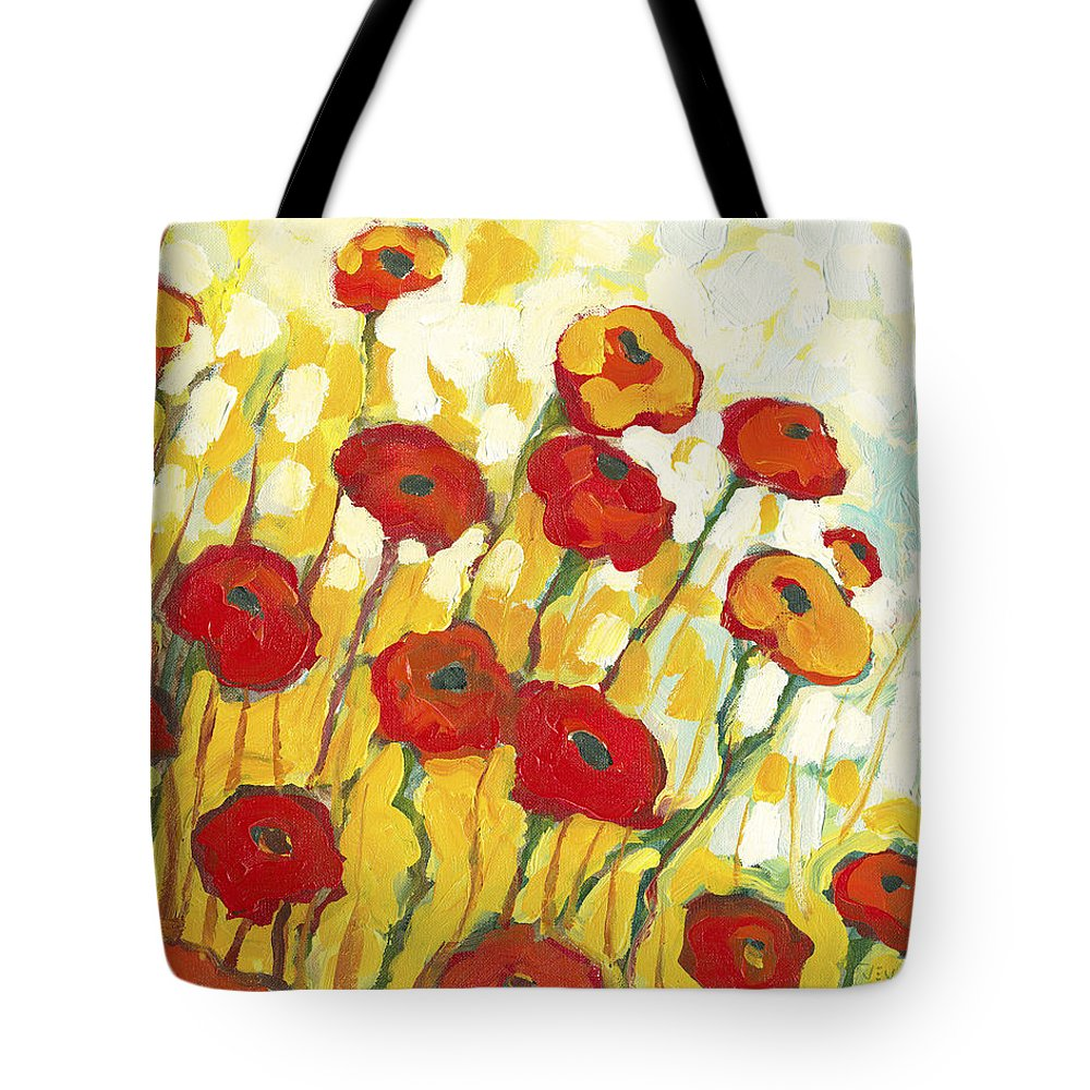 Landscape Tote Bag featuring the painting Surrounded In Gold by Jennifer Lommers